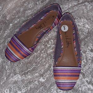Multicolored Woven Flats-Super Colors! Size 8